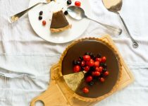 Easy and Eggless - No bake Chocolate Fudge Tart