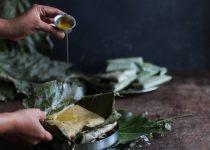 Pelakai Gidde / Pelakai Gatti) / Jackfruit Idlis Steamed in teak leaves