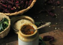 Curry Leaves Chutney Powder (Karibevu Soppu Chutney Pudi)