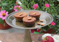 Eggless Apple Cinnamon Muffins made with Almond meal and Whole Wheat Pastry Flour