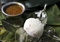 Kotte Kadubu (Idlis steamed in Jackfruit Leaves)