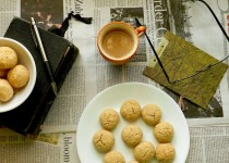 Eggless Whole Wheat Coconut Biscuits or Cookies