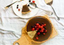 Easy and Eggless - No bake Chocolate Fudge Tart
