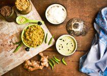 Raw Banana Podi (Powder) with Mango Thambuli