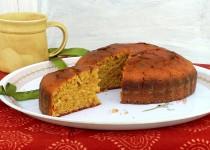 Jaggery Cake (A basic vanilla sponge cake using wheat flour and jaggery)