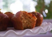 Eggless Carrot Cupcakes With Orange Glaze